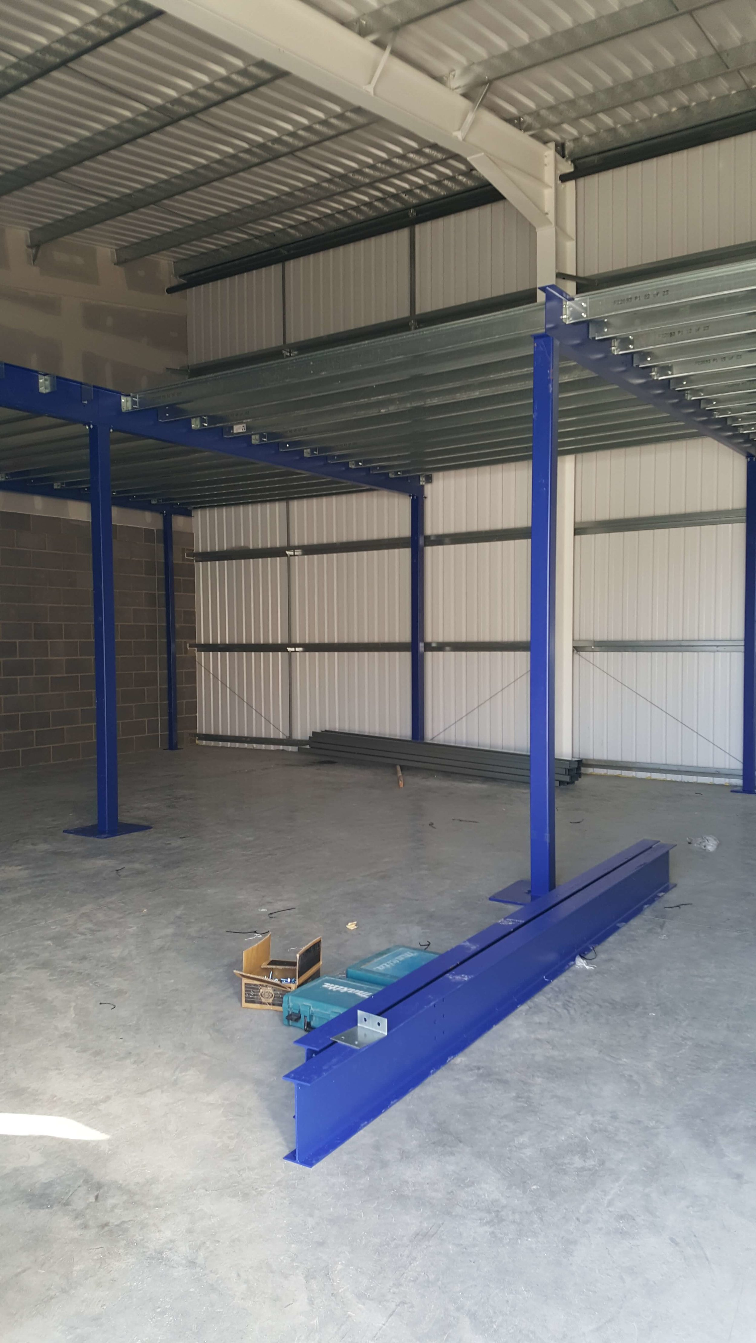 - The first of two mezzanine floors