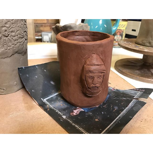 Made my first ever pot today at the Colchester Makerspace (@colchmkrspc ) such a great workshop and tutors!  I'm definitely going to try another free #heyclay workshop next year by @craftscouncil  #clay #pottery #design #terracotta #craft #workshop