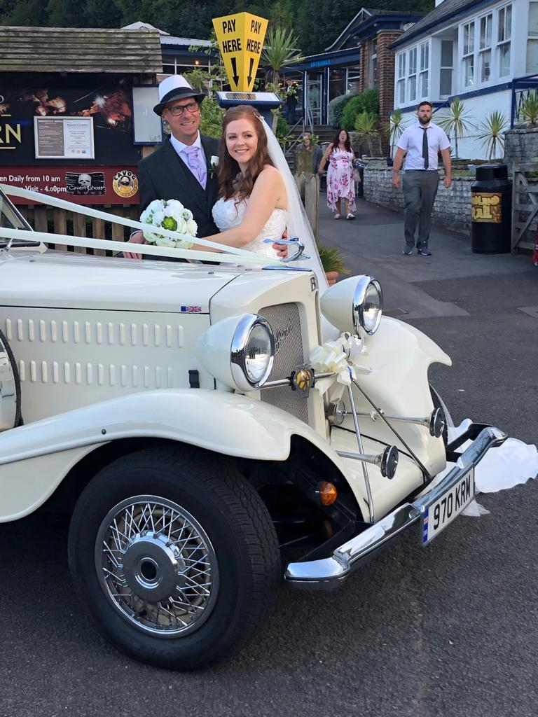 Stacey from Kent Cavern - A beautiful car and amazing service. Our driver was very friendly and made the journey enjoyable for all. The bubble machine was a real hit and the kids at the wedding loved chasing the car for the bubbles. Highly recommended. Xxx