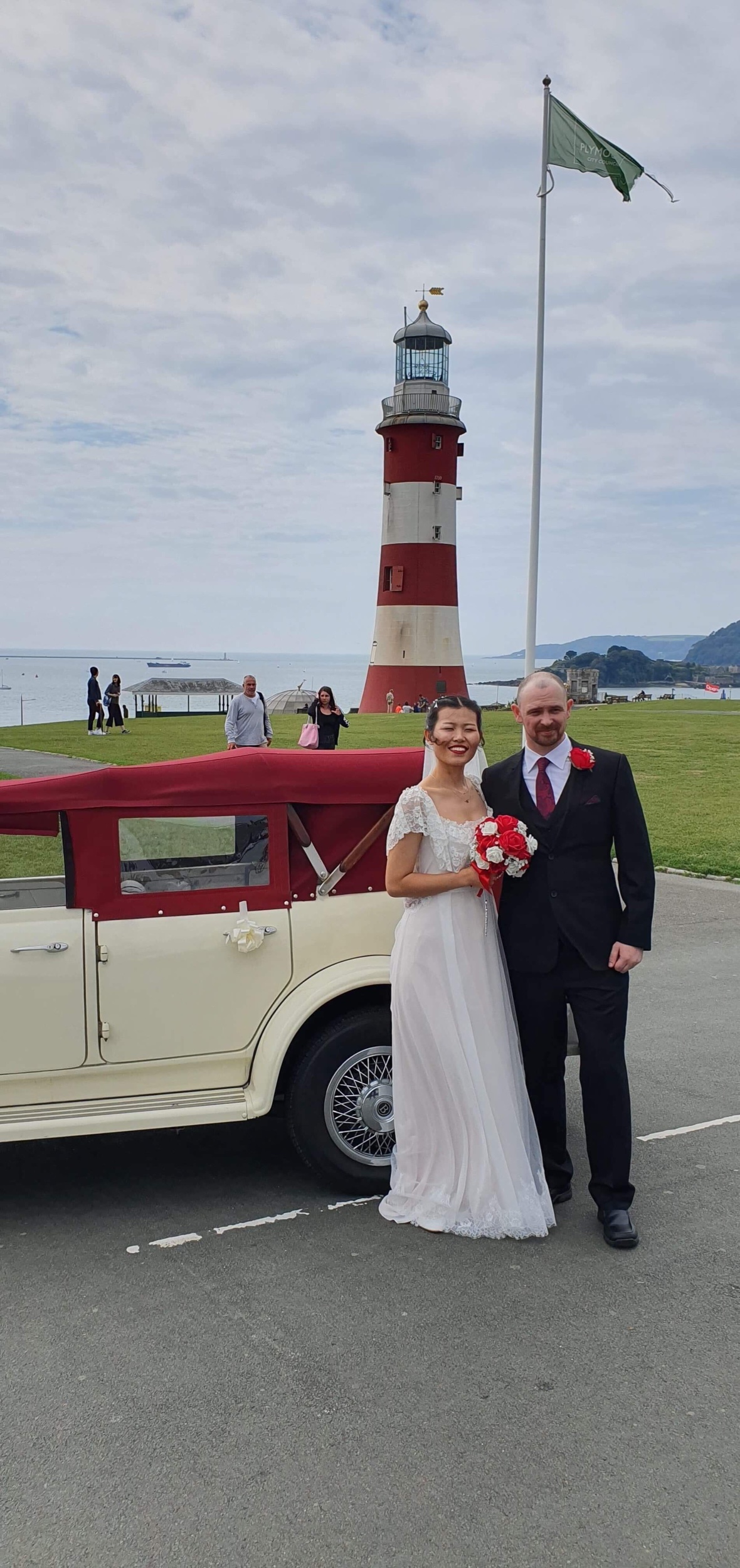 Martin & Michelle from Plymouth - Many thanks to you and our driver Paul for helping to make our wedding day perfect. Everything went really well and we really appreciate your being on time and willingness to go to the Hoe for some photos prior to our reception.Thanks again,Martin & Michelle