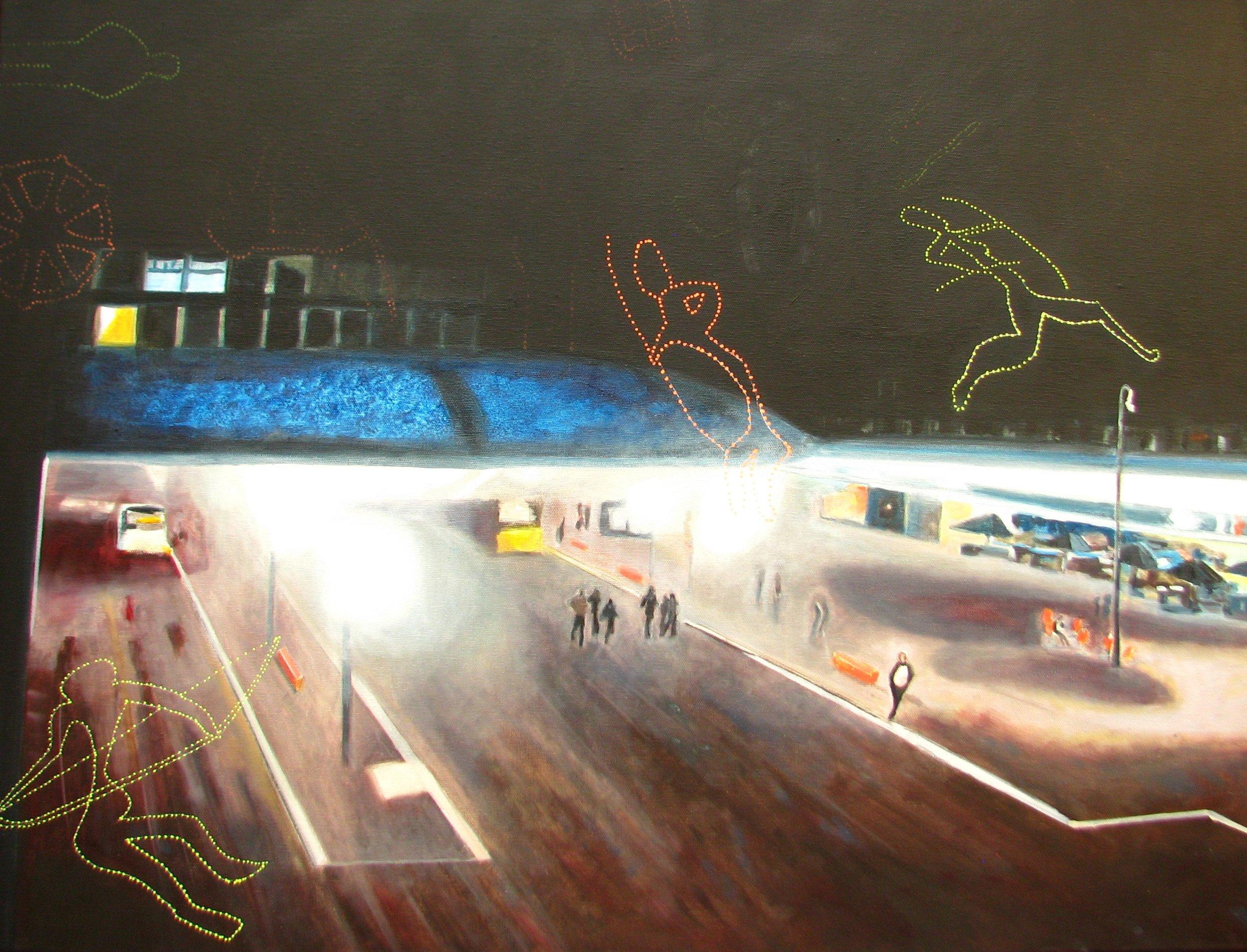 Bahnhof Aarau bei Nacht
