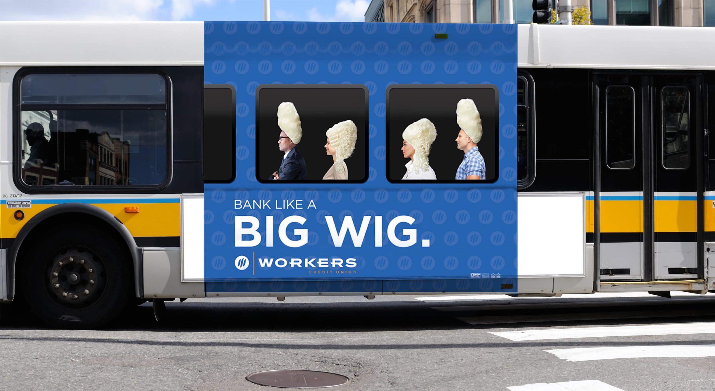 Bus Wrap - Across suburban Boston, riders were treated to an interesting experience. This execution won several regional ADDYs.