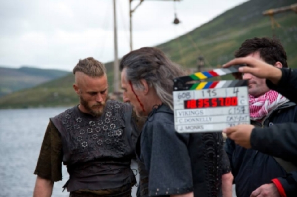 On Set for Vikings