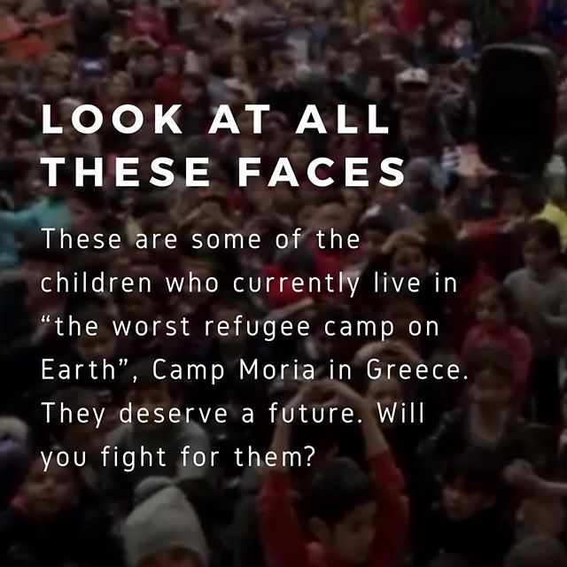"Look at all these faces. These are some of the children who currently live in ""the worst refugee camp on Earth"", Camp Moria in Greece. They deserve a future. Will you fight for them?  #refugees #children #innocence #greece #refugeecrisis #campmoria #wearethechildren"