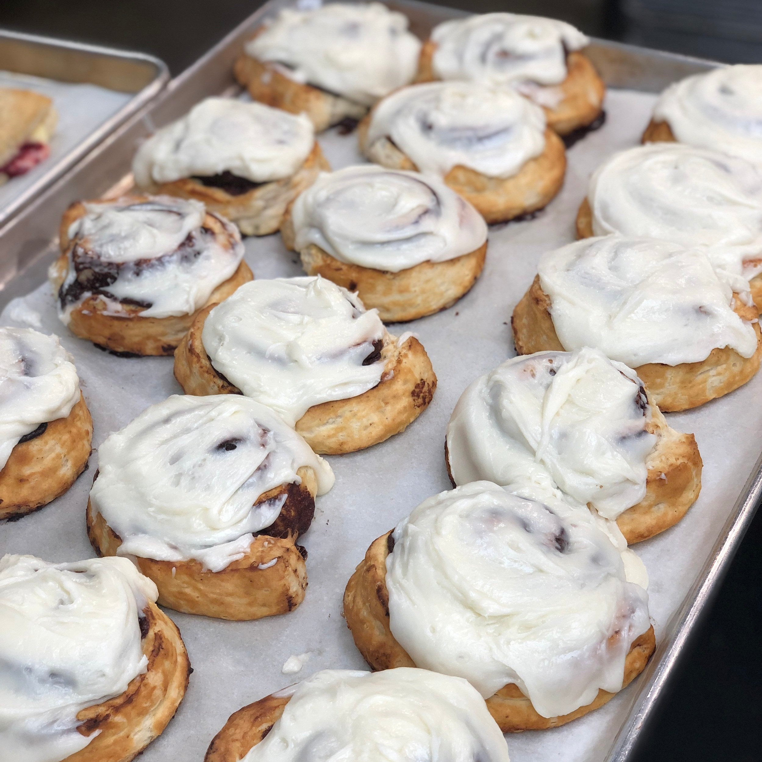 Treat yourself to a hot cinnamon roll any dayof the week. - (except Sundays!)