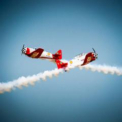 The great Aeroshell Aerobatic Team