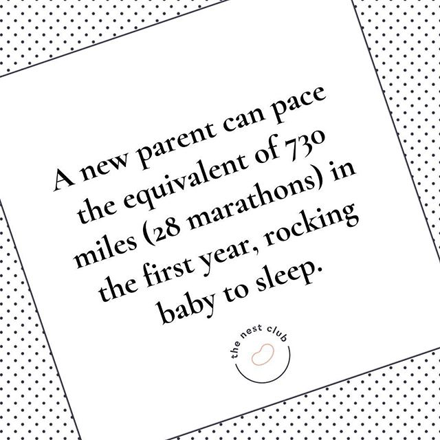 I love a good statistic. Saying that I'm not sure how @simbasleep arrived at this mega-stat 😂😂 I can though see how easily the shuffles, jiggles, pacing, rocking, trips up and down the road could amount to a fair number of marathons completed in the early days of parenthood. So many marathons with no expectation of reward, medal or a glass of something fizzy at the finish line 🥇 If that isn't testament to the love of any parent for their child then I don't know what is 💕 #parenting #parentingmarathon #unsungheroes #rocking #shushing #pacing #sleepdeprivation #newbornbaby #buggylife #thenestclub #thenest #nestbirthandbeyond
