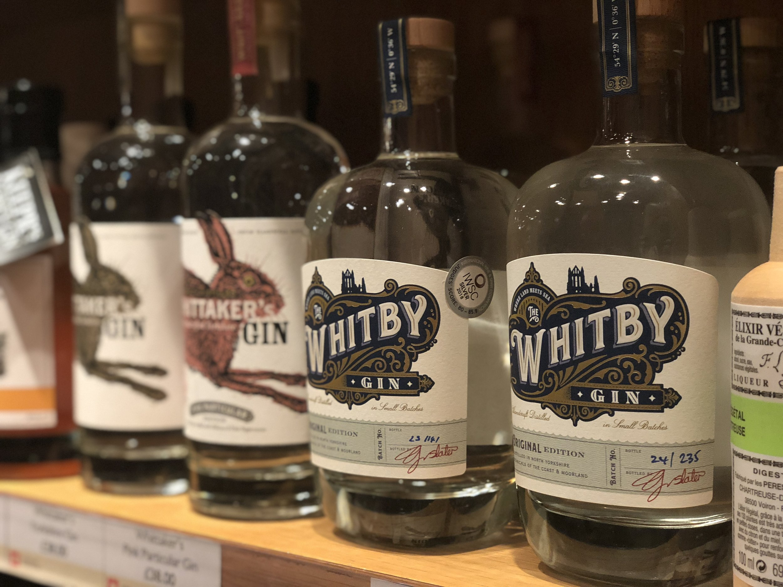 Whitby Gin in Whitby Abbey Gift Shop