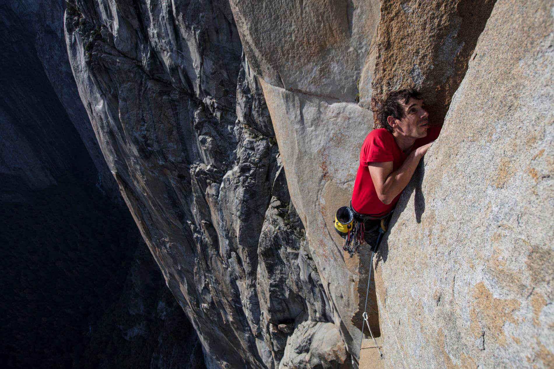 Free Solo - Follow Alex Honnold as he becomes the first person to ever free solo climb Yosemite's 3,000ft high El Capitan Wall. With no ropes or safety gear, he completed arguably the greatest feat in rock climbing history.(Documentary: 1hr & 40min)Film sponsor - High Peaks Cyclery