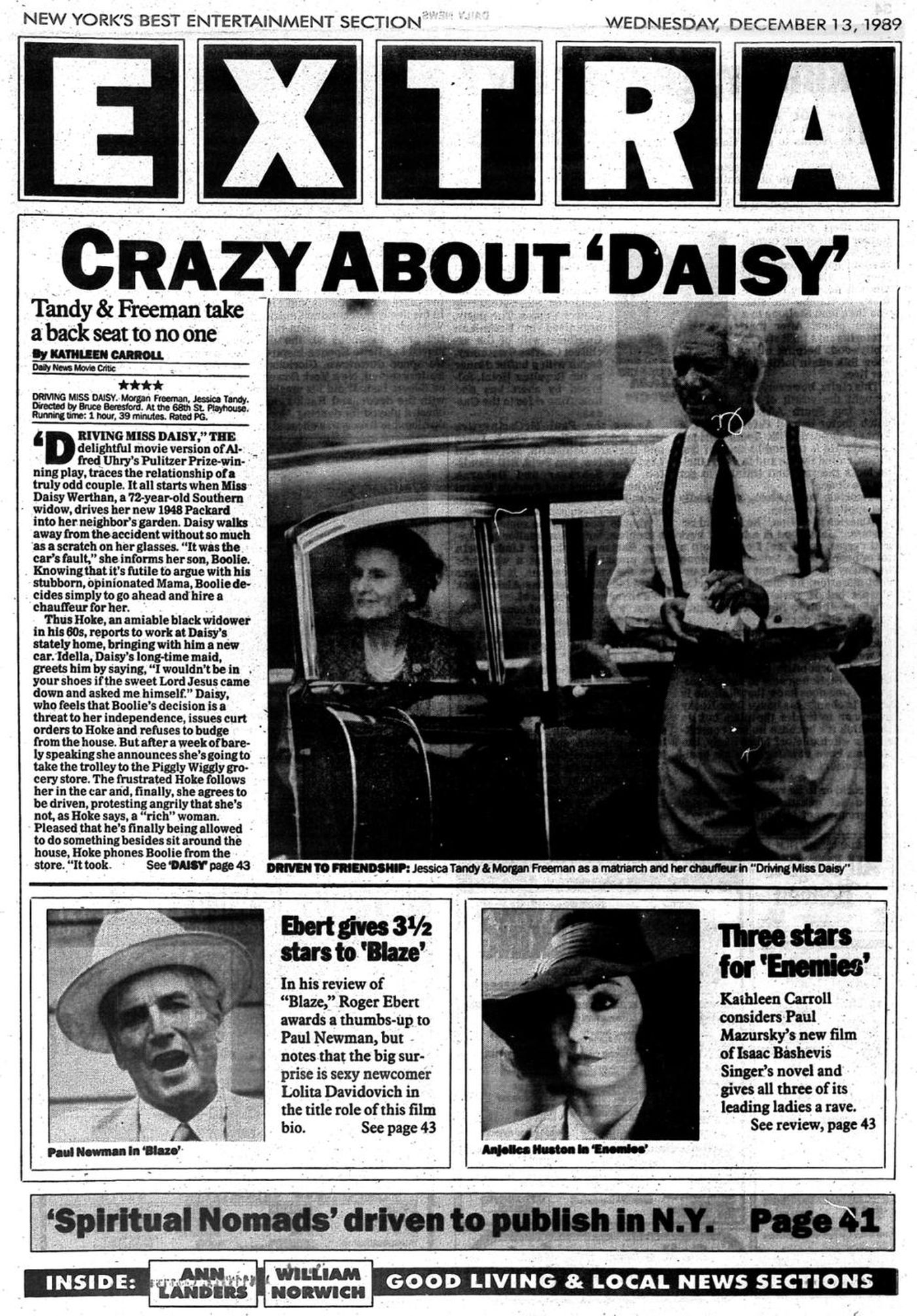 "Kathleen Carroll review of ""Driving Miss Daisy"" for NY Daily News"