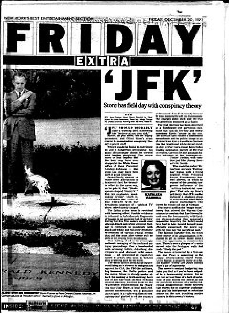 "Kathleen Carroll review of ""JFK"" for NY Daily News"