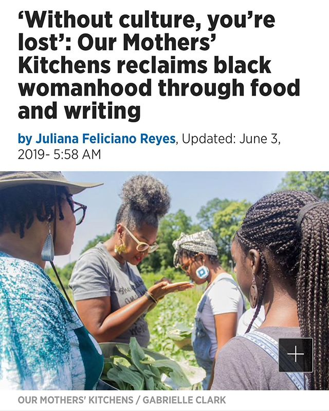 📰! -  we in the Inquirer fam. we got a recipe up in that jawn too. + our mini-documentary.  we fancy.  #ourmotherskitchens #sociallyengagedart #culturalrestoration #vibrationcooking