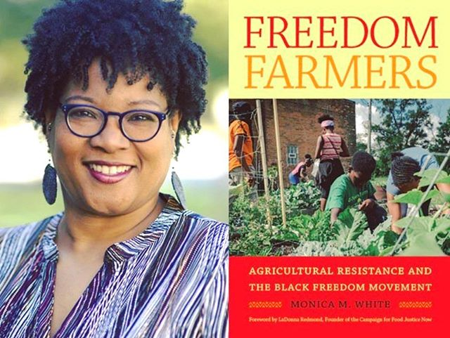 """👩🏽💼📖! - mark your calendars! this Thursday, 13 June at 7p, @unclebobbies welcomes author, scholar + badass black woman Dr. Monica M. White for a book talk + signing of """"Freedom Farmers: Agricultural Resistance and The Black Freedom Movement"""". - fam, this talk is being moderated by my BFF Ashley Gripper (@getagrip)! Ash is working on her PhD in Environmental Health at Harvard, examining the mental + spiritual health benefits of urban farming for Black folks. She is currently working + researching with Dr. White, promoting the importance of Black farming. she's the shit + i am so damn proud :) - come thru to Uncle Bobbie's this Thursday to support my girl, learn from Dr. White + engage in REAL freedom talk! - #freedomfarmers #blackfreedommovement  #blackwomenswork #blackwomenwrite #readabook"""