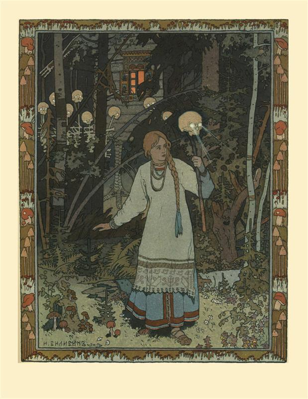 """Vasilisa the Beautiful"" by Ivan Bilibin"