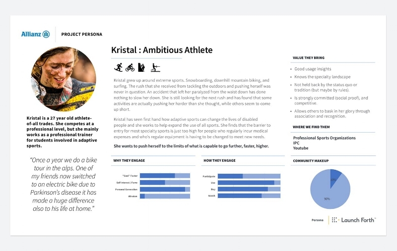 Allianz & Launch Forth: Breaking Records with Adaptive Sports Technology - Digital Marketing Strategy, Persona & Audience Identification, Campaign Creation, Messaging, Media Planning & Management, Multivariate Testing & Optimization, Event Creationwww.launchforth.io