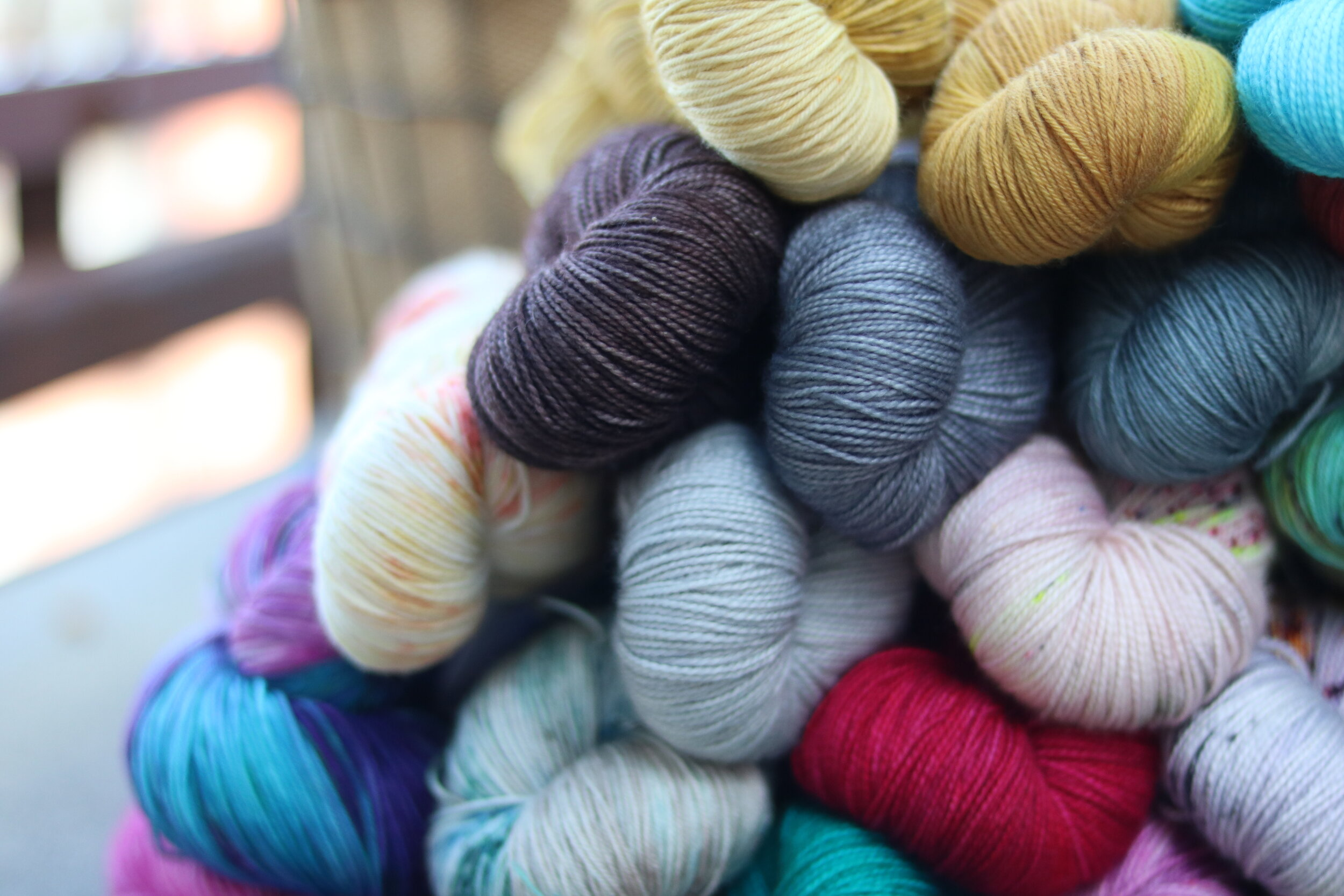 A time and place where makers come together. We work on current projects and engage in meaningful conversation about our passion for knitting and crocheting. -