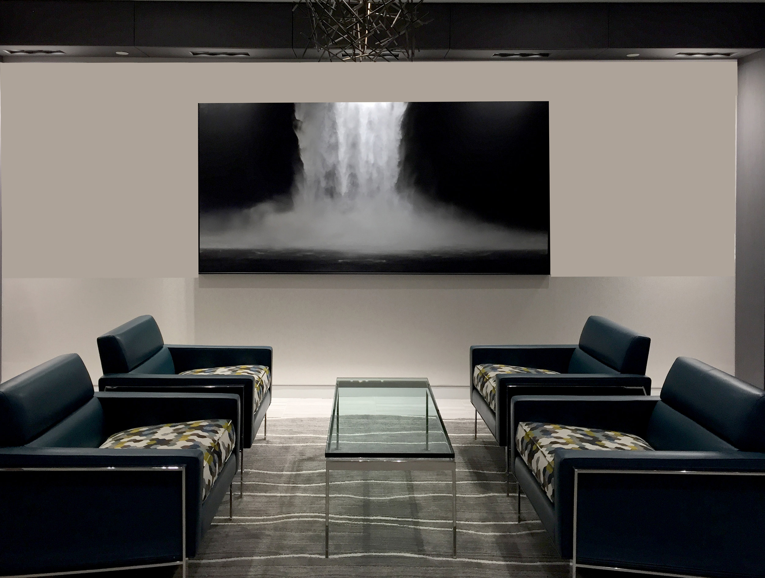 Common area featuring hand painted photograph by Cristina Craemer.