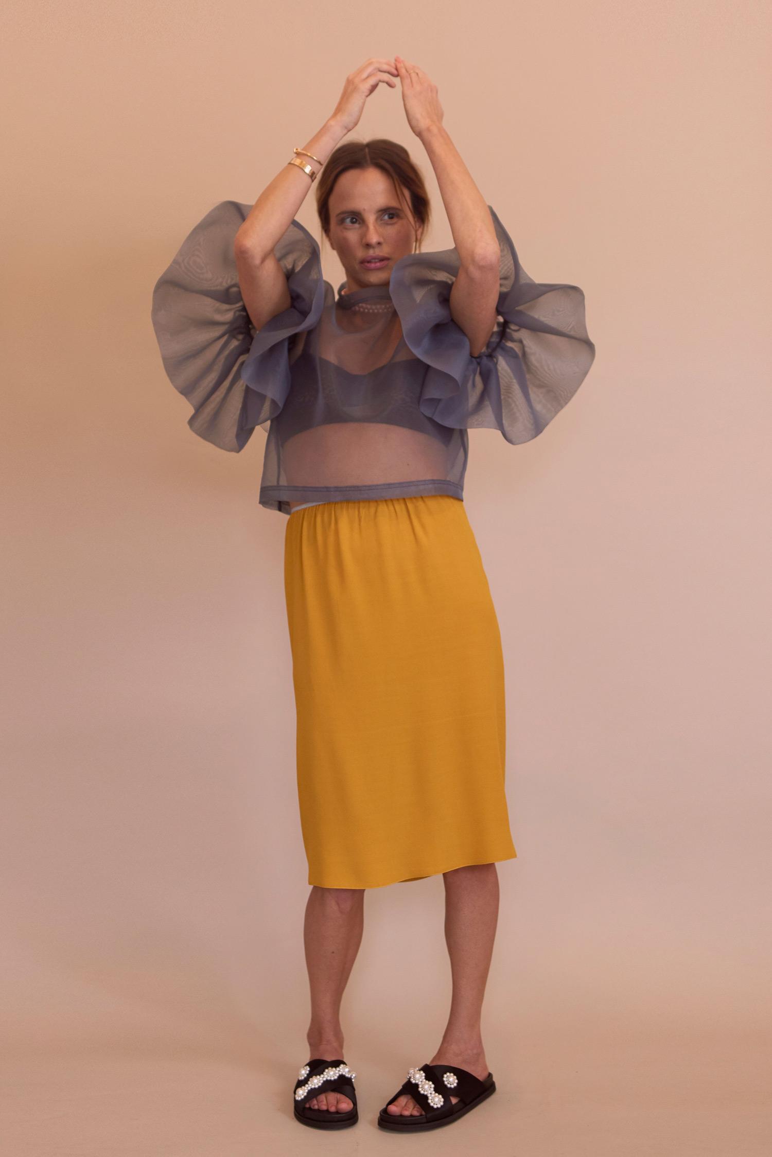 Rosa Macher Skirt 001 Mustard