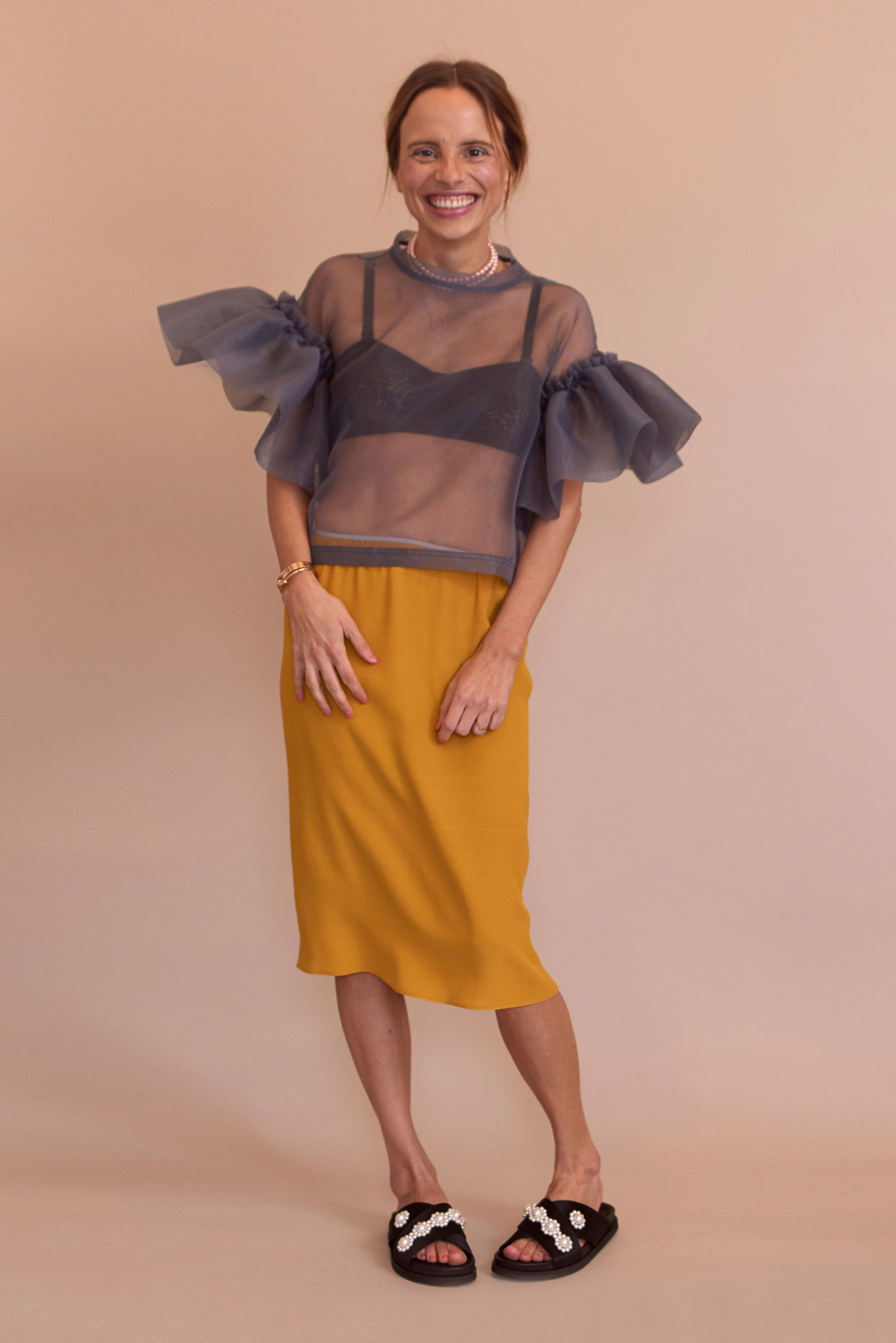 Rosa Macher Skirt Mustard