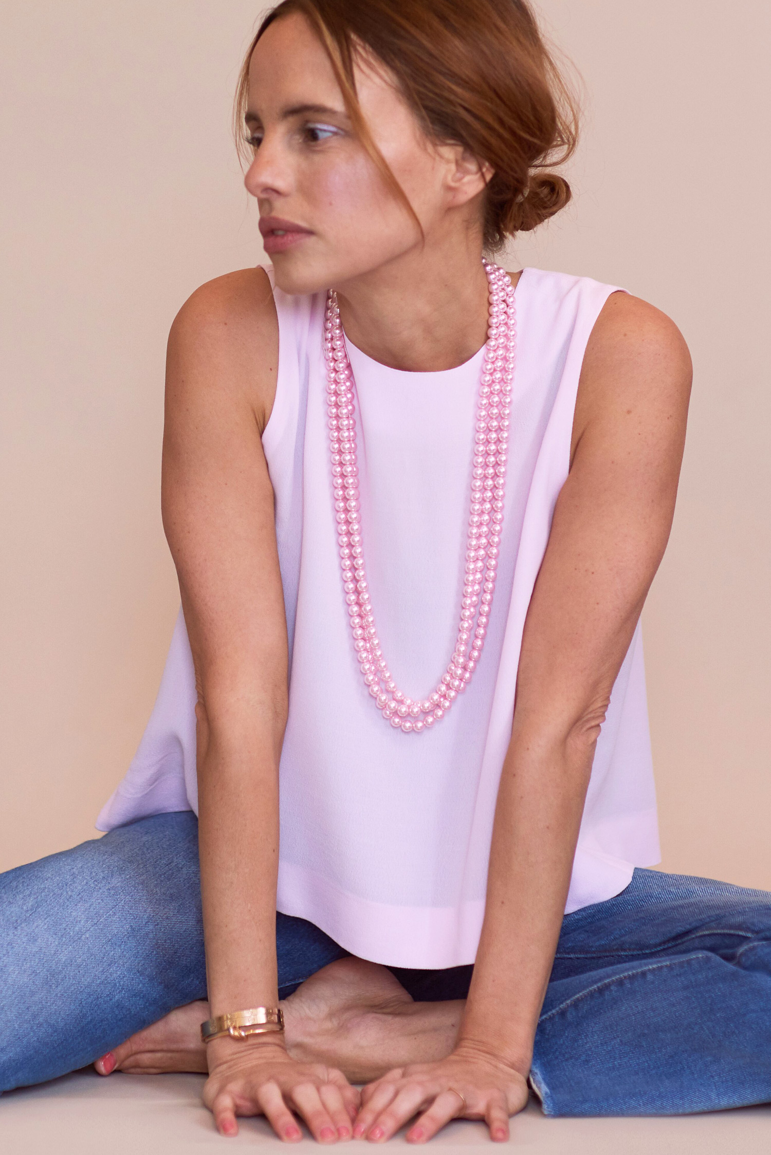 Rosa Macher Sleeveless Top 001 in Candy Pink