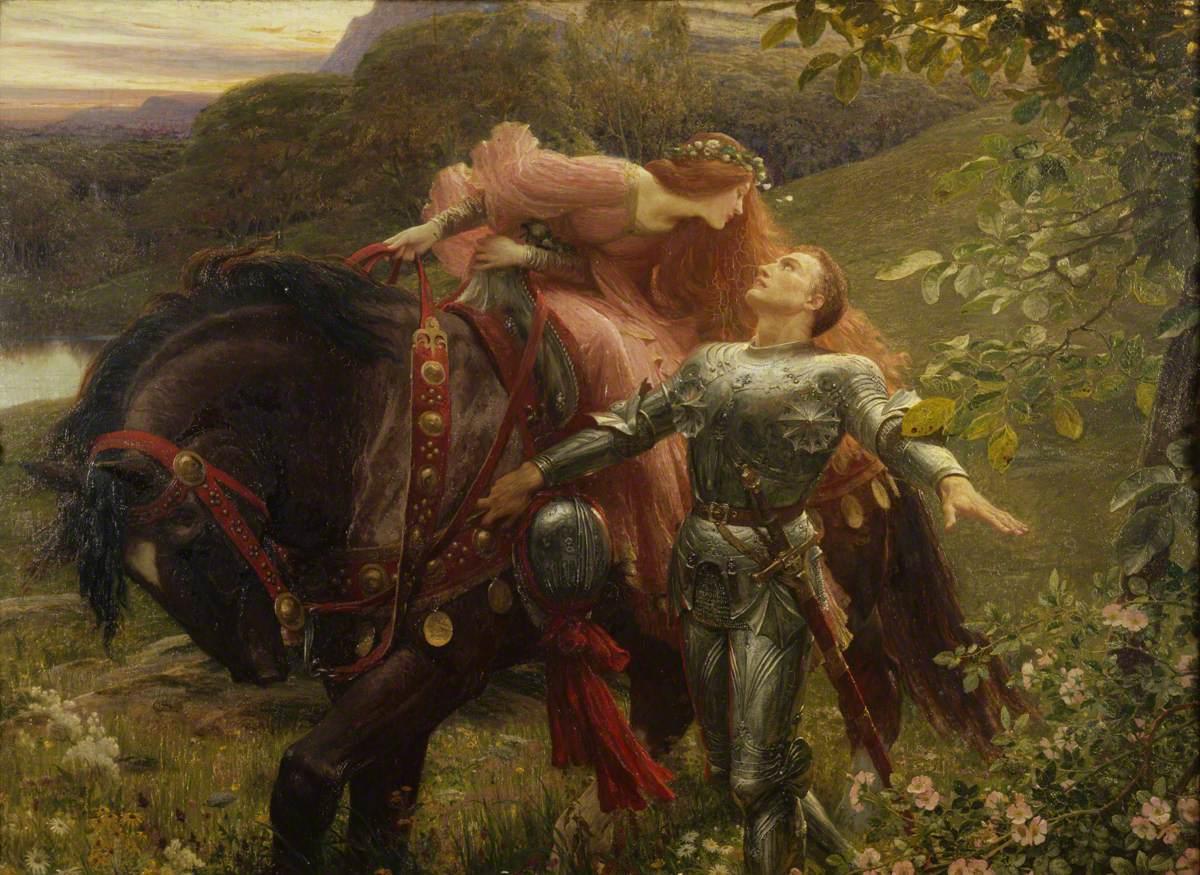 La belle dame sans merci by Frank Bernard Dicksee (1853–1928); Bristol Museum & Art Gallery