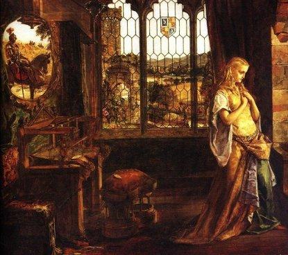 William Maw Egley. The Lady of Shalott. 1858. Museums Sheffield, England.