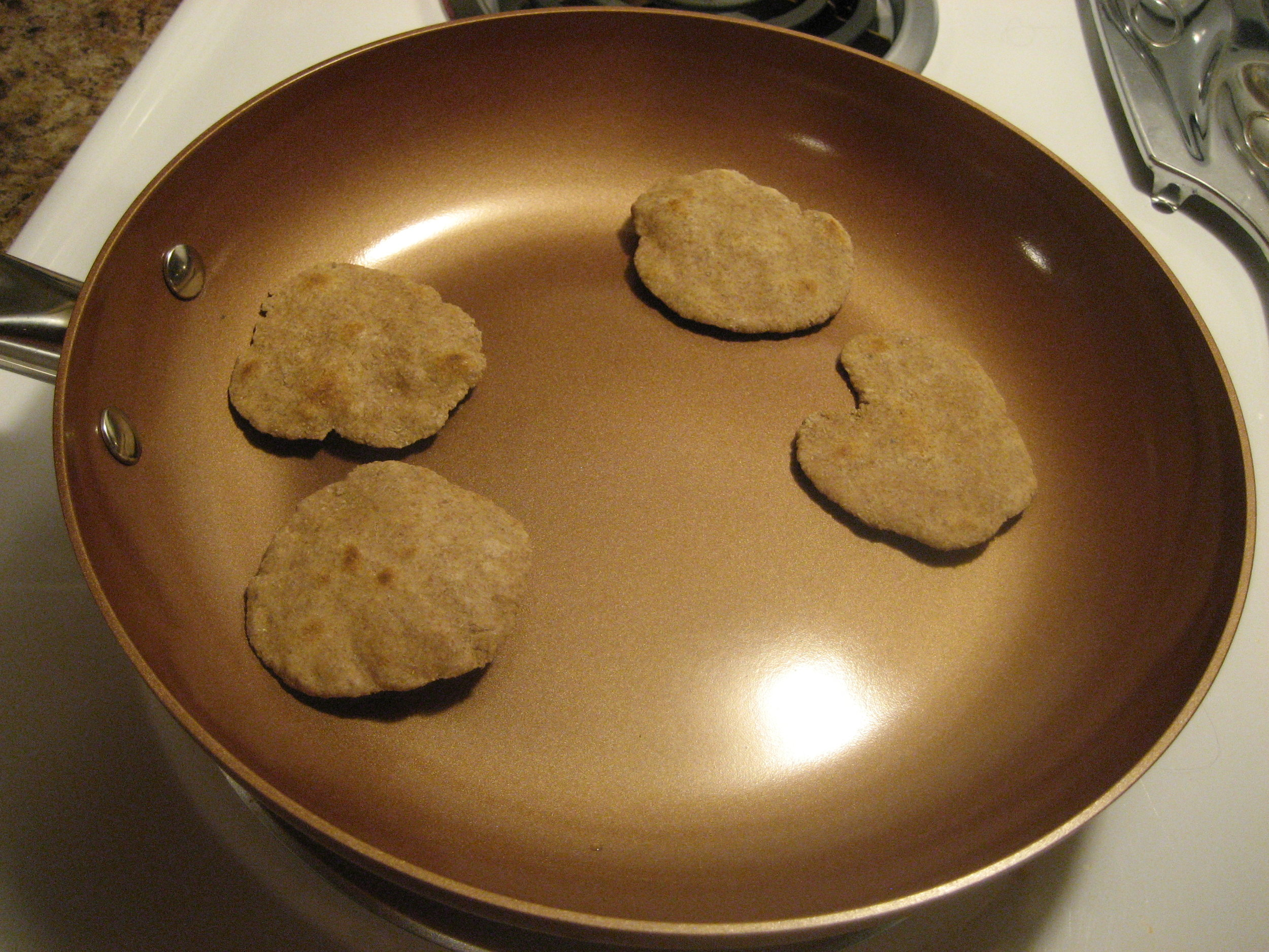 I cooked them in batches of four.