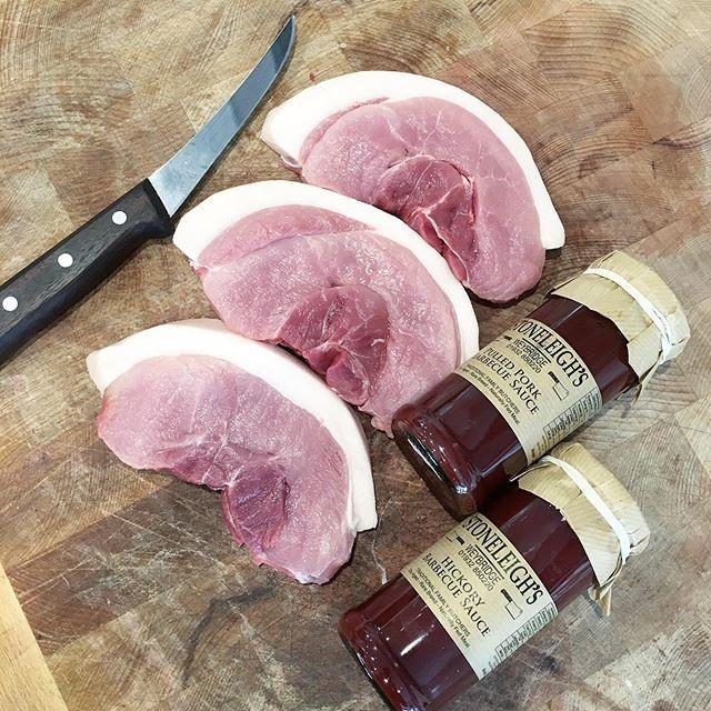 Pork + BBQ sauce = happiness. 😃. . . #butcher #butchersofinstagram #meat #bbq #bbqsauce #pork #porksteak #steak #happiness #keto #carnivore #surrey #cobham #weybridge #shoplocal #lovewhatyoueat #lovewhereyoushop #food #foodphotography #flavour #knife #knifeskills