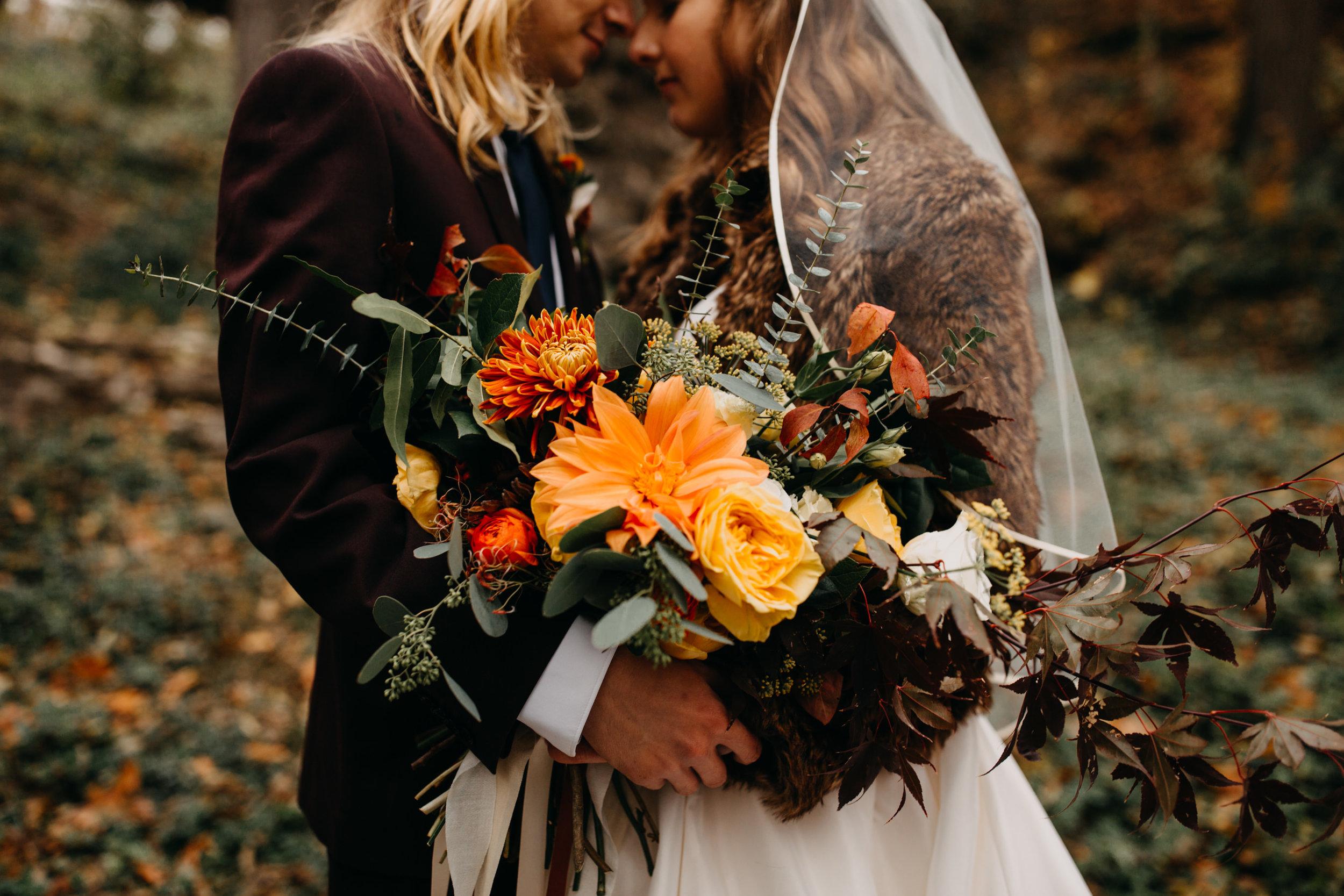 retro orange bouquet