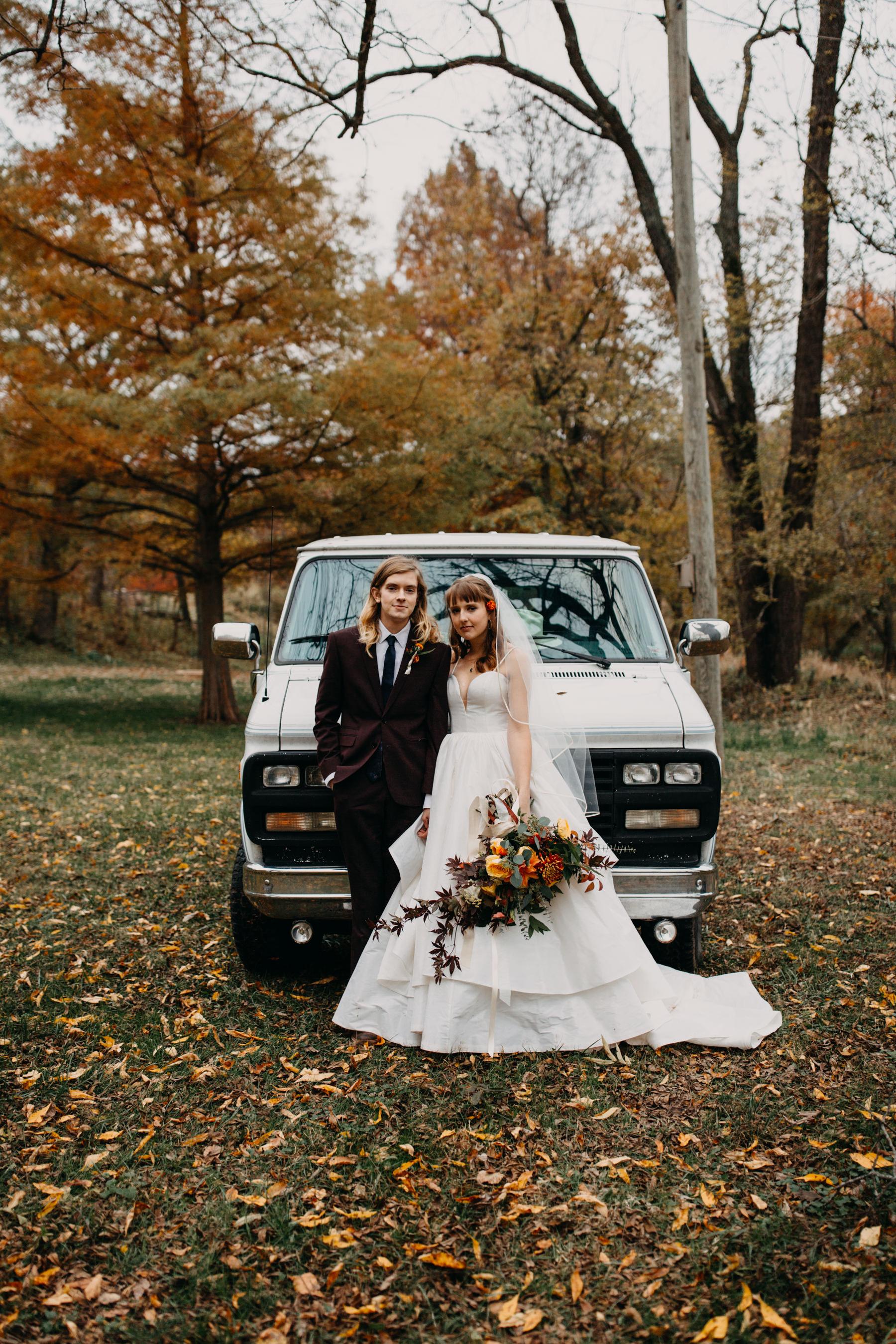 vw van at wedding