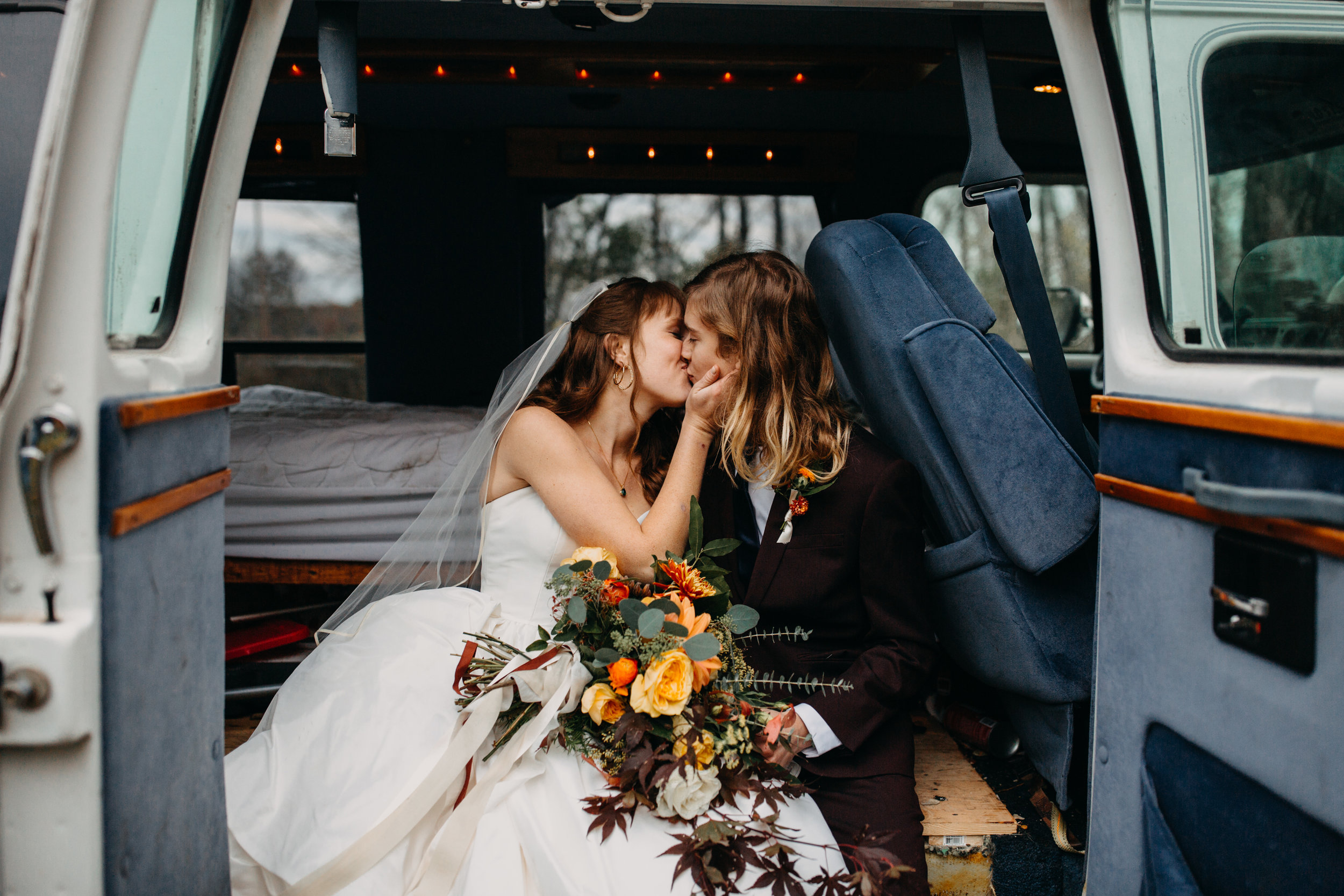 camper at wedding