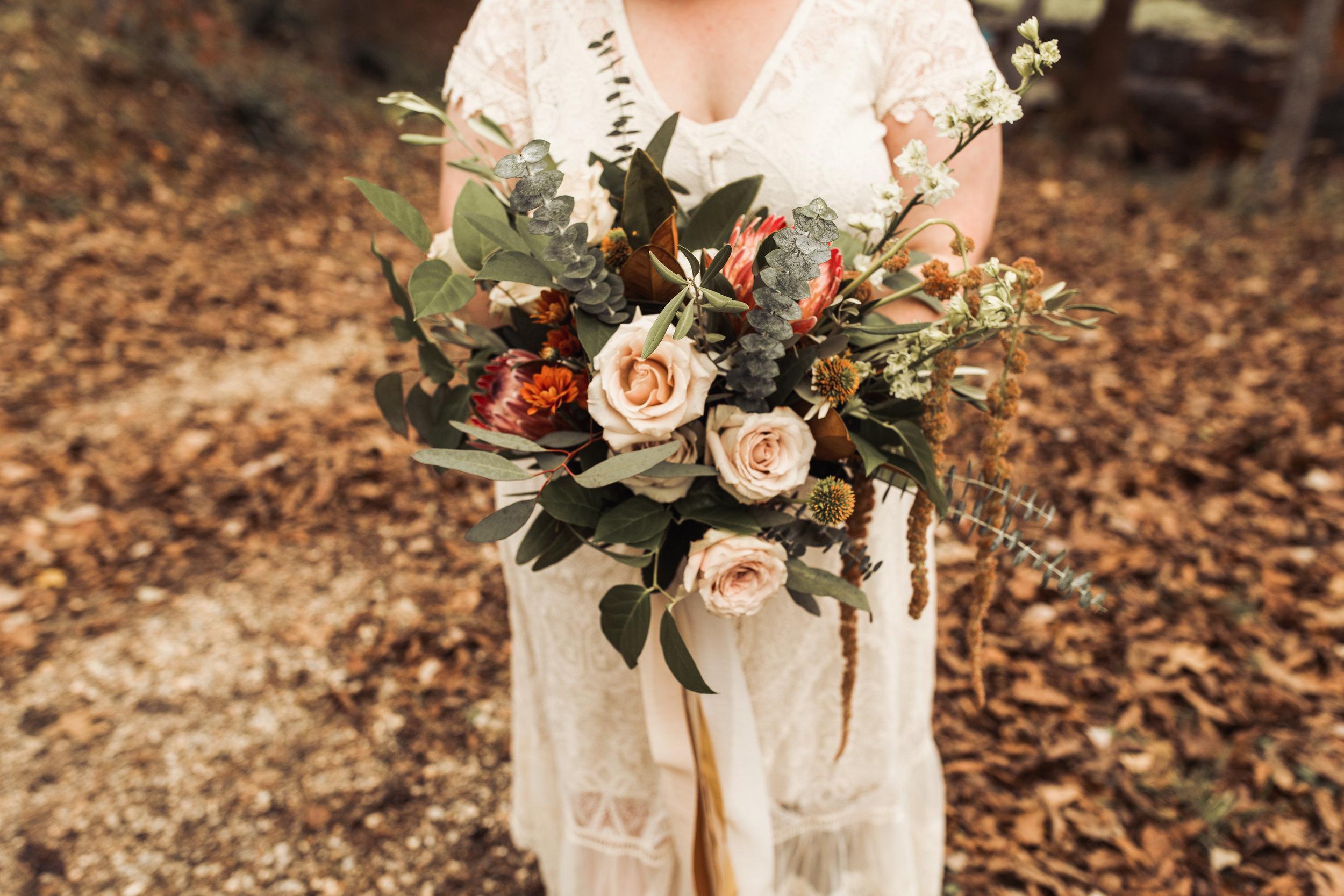 greenery bouquet elope