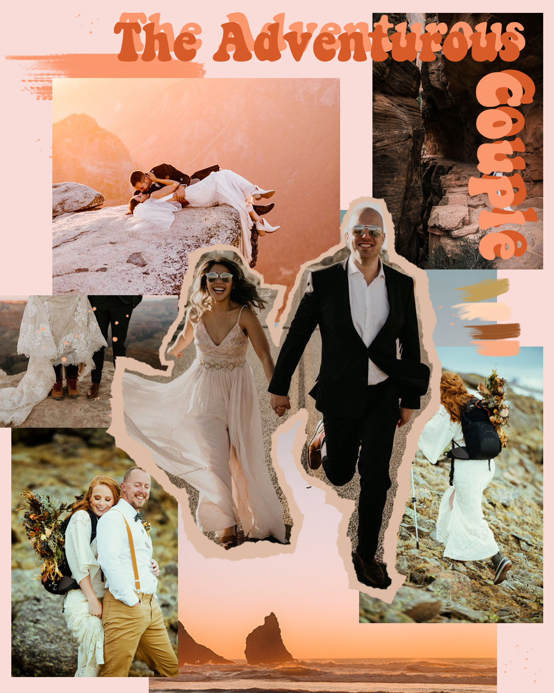 Collage by  Vivien Smith  | Photographs by:  The Hearnes Photography ,  Maggie Grace Photography ,  Erika Greene Photography ,  Henry Tieu Photography ,  Justynae Butler Photography