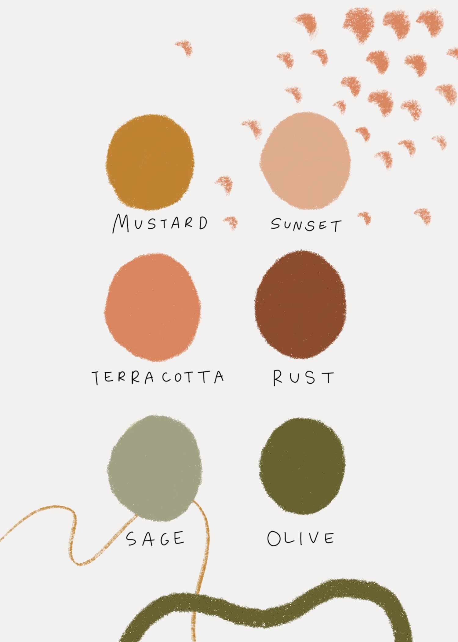 Color palette for adventurous weddings, elopements and events by Wildly Collective