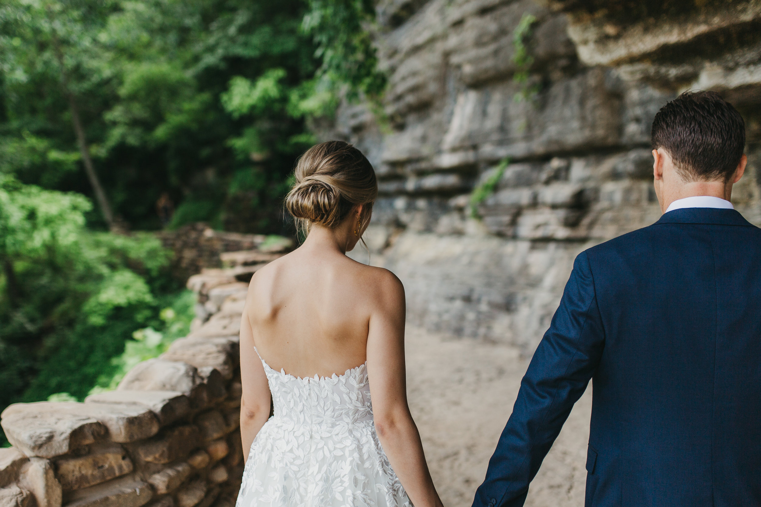 bride and groom portraits in canyon destination wedding