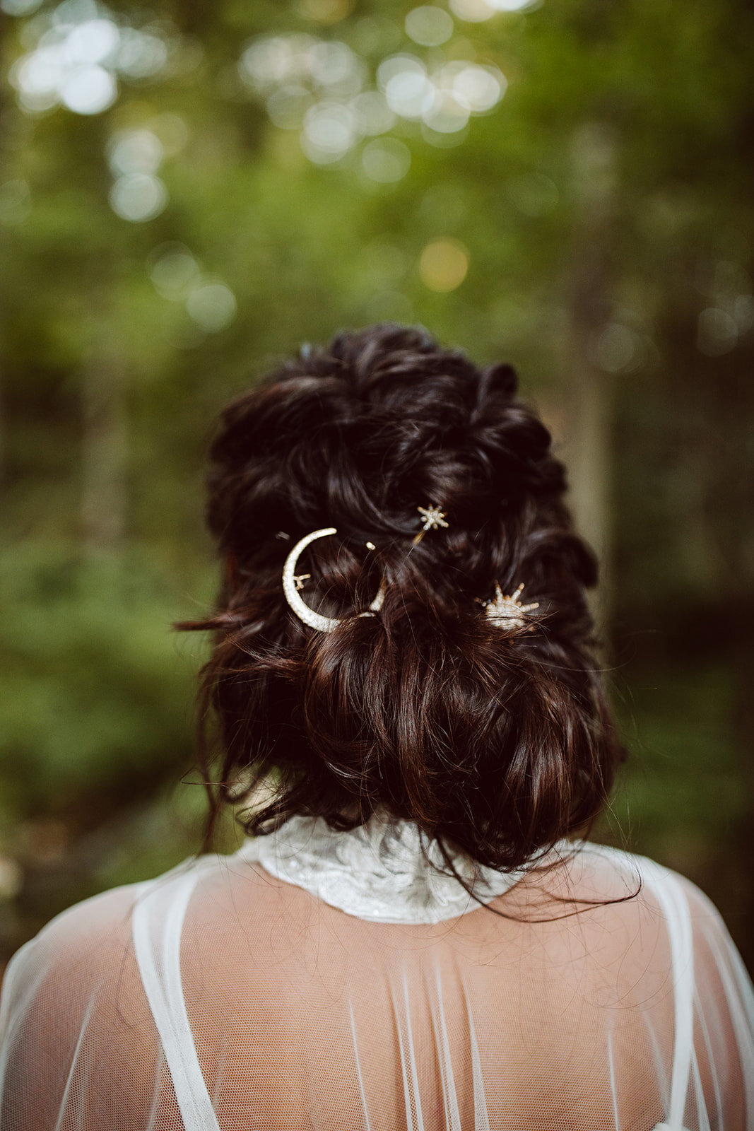star and moon clips for wedding hair