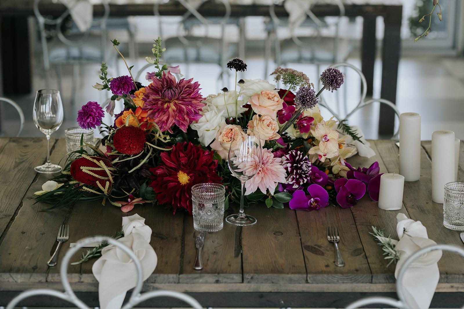 Cape Town wedding florist luxury table flowers