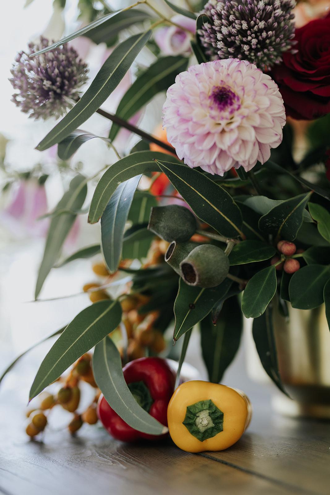 Cape Town wedding luxury flowers dahlia
