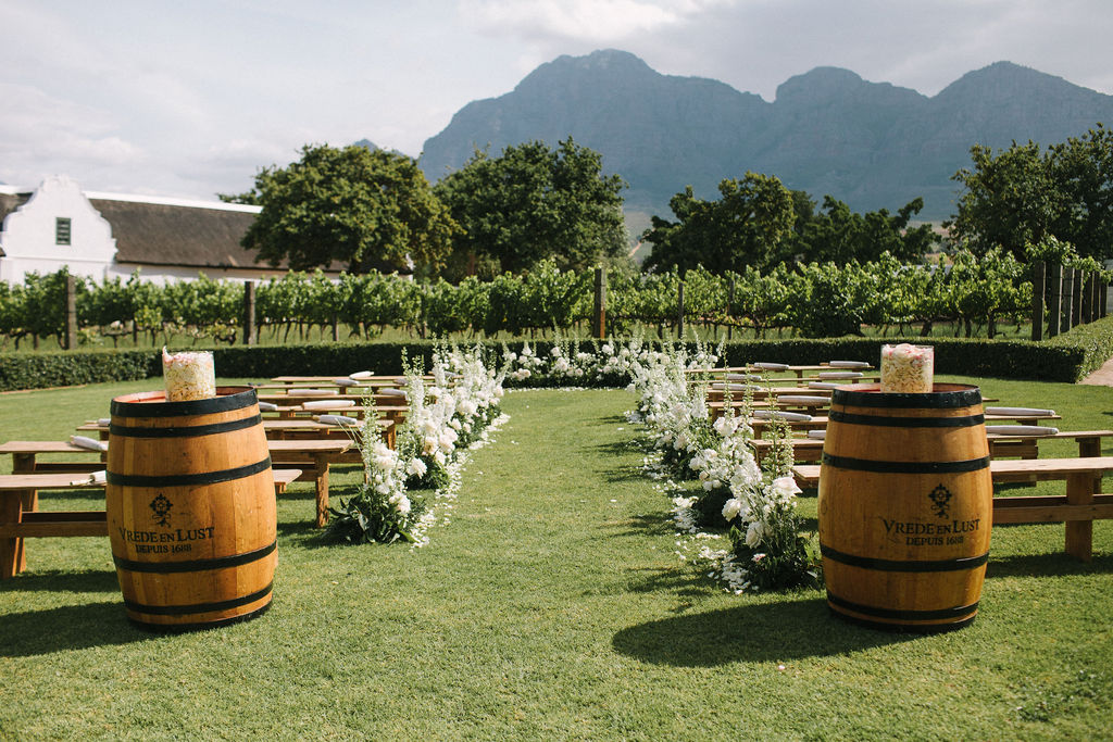 floral aisle wedding Wildeflower 2