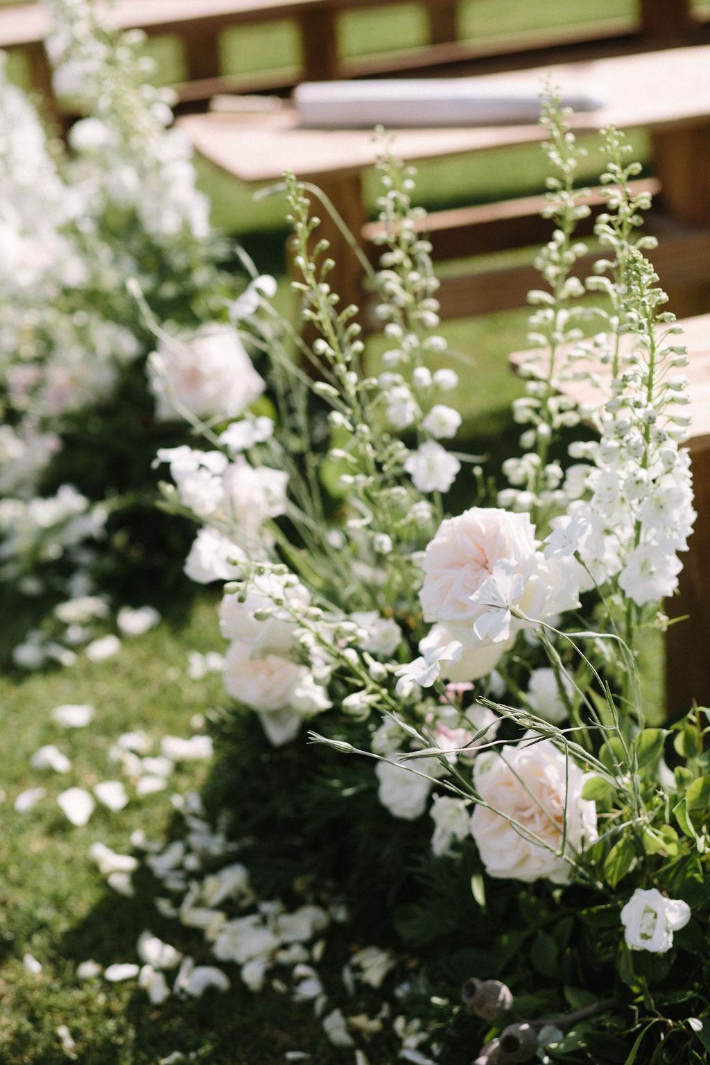 floral aisle wedding Wildeflower 6