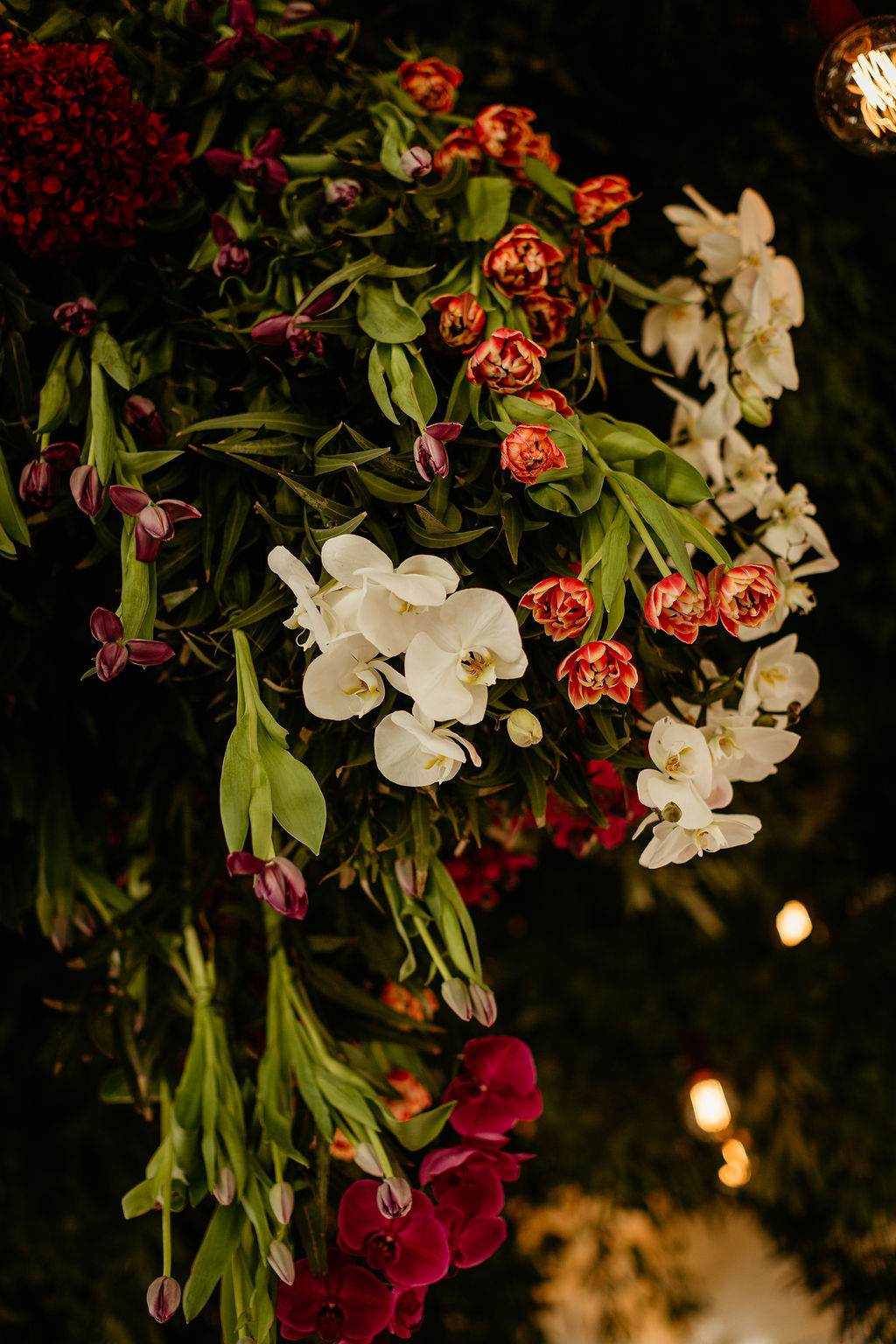hanging florals wedding cape town