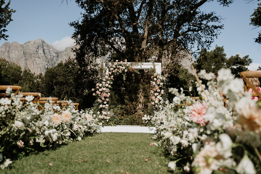 wedding flowers plettenberg bay