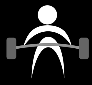 Person lifting bar with weights
