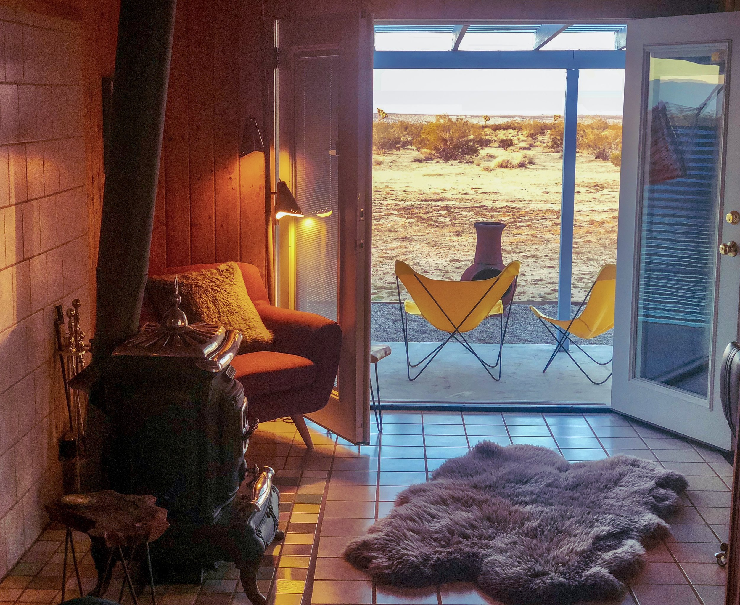 Interior and view from Helios House