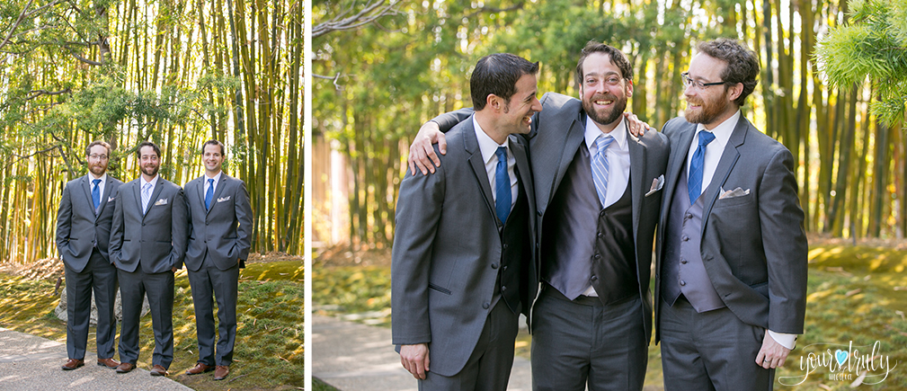 Wedding Photography Packages - San Diego, CA - Japanese Friendship Garden - Groom with his groomsman.