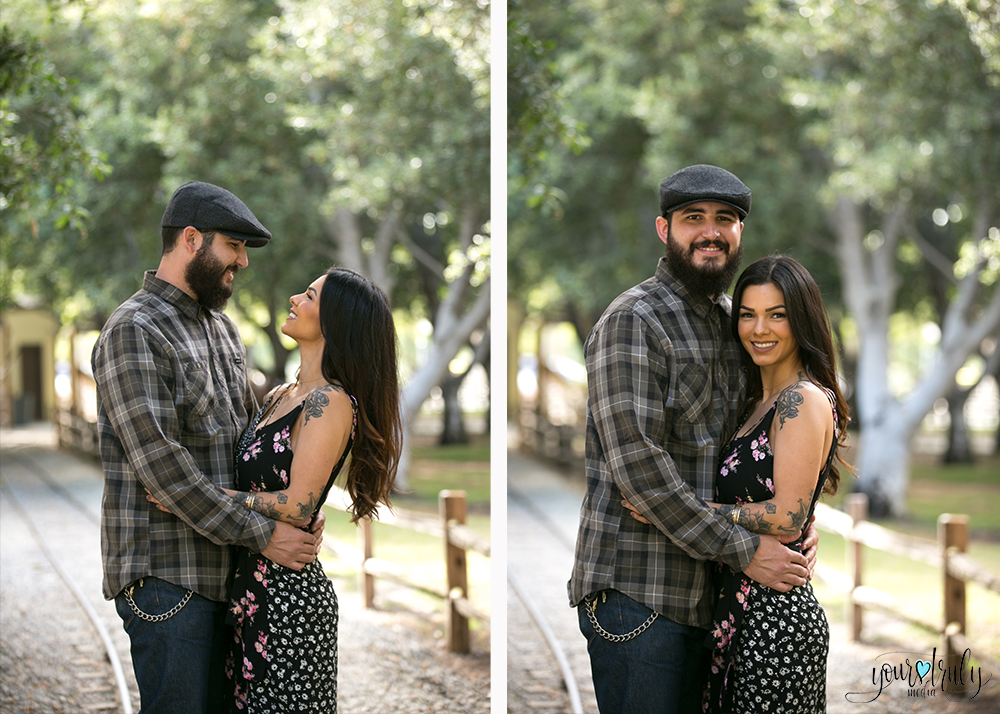 1-year anniversary photography feature - Couple staring into one another's eyes as they embrace.