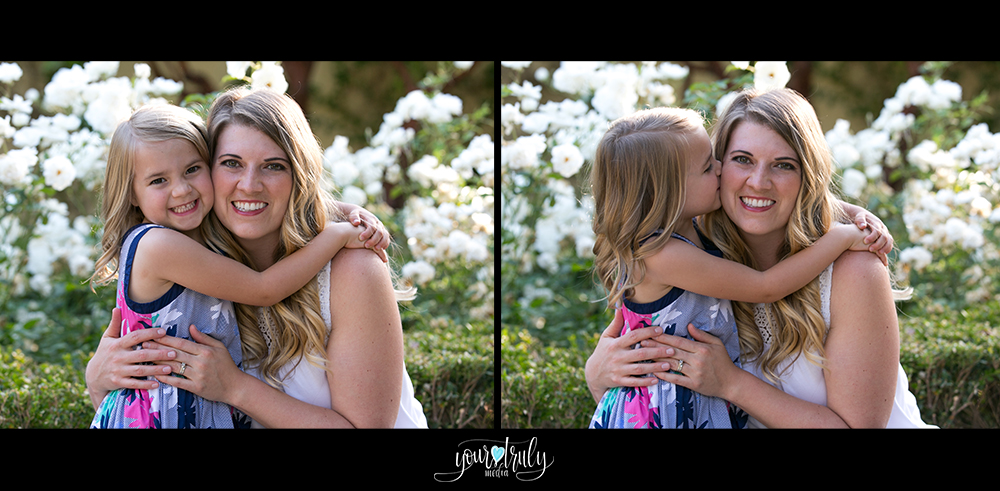 Family photography session - Orange County, CA - Mother and daughter hugging.