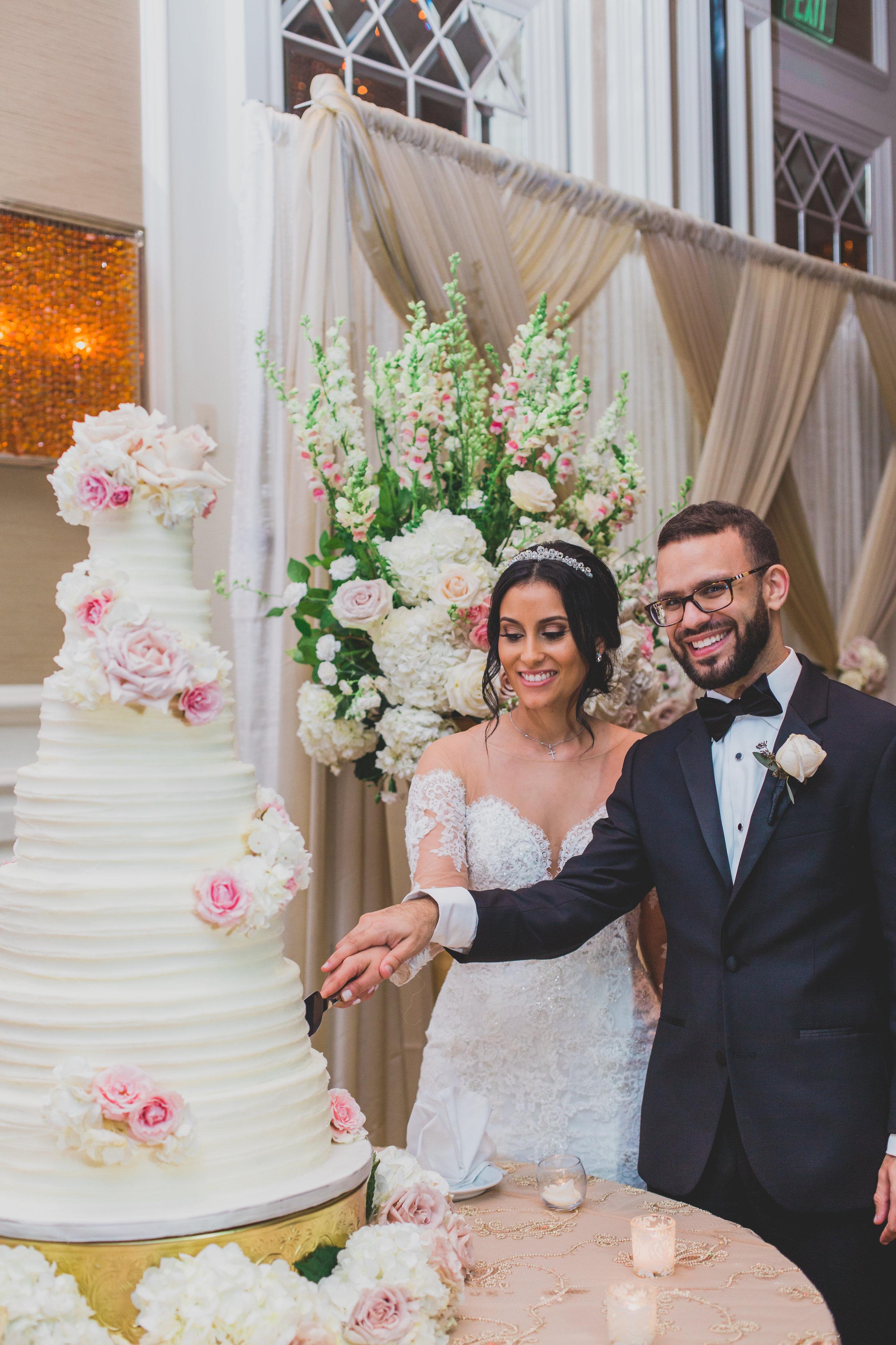 sugar-land-tx-wedding-photography-marriott-cake-cutting-ceremony