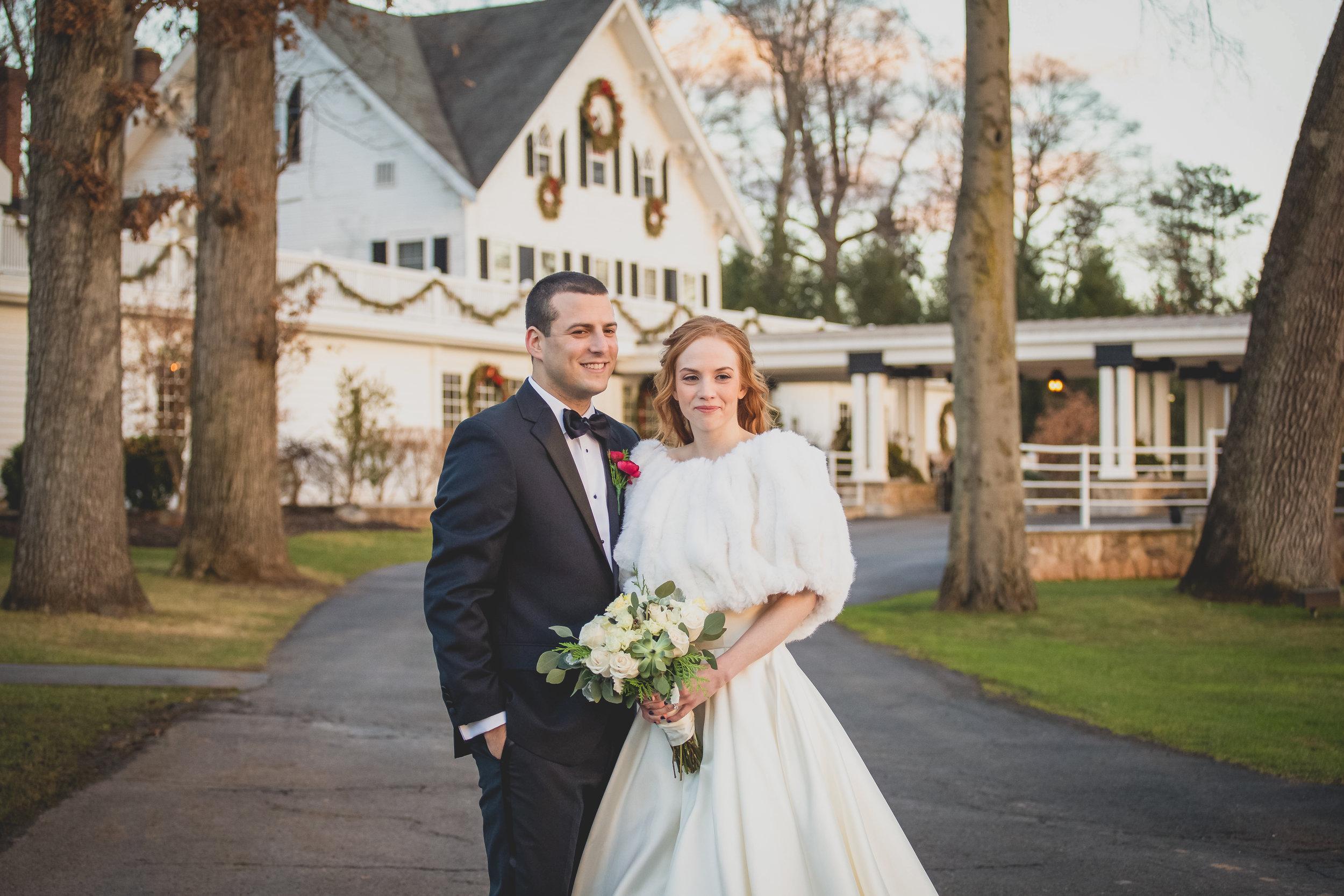 Whitehouse Station, NJ Wedding Venue - The Ryland Inn - Couples Photoshoot with Flowers