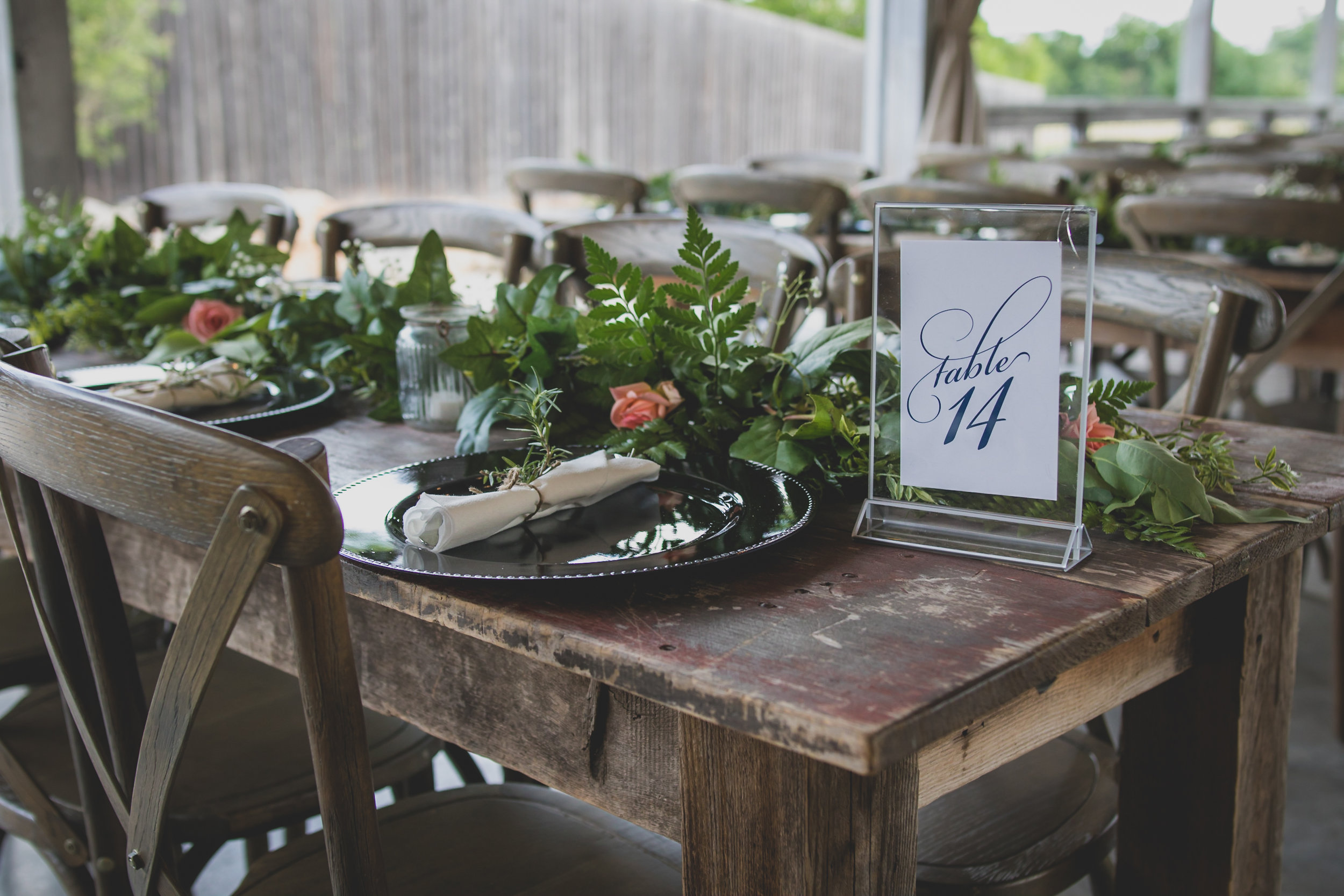 Important things to consider when planning a wedding - Reception table number 14.